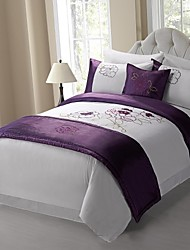 Duvet Cover Shams Cushion Cover And Small Throw With Filling Based On Soft Fabric With Embroidery On Top