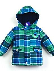 cazadoras de manga larga 100% dacron del muchacho caliente de las ventas en el otoño con chaquetas de impresión de dibujos animados (Azules) 1-6years