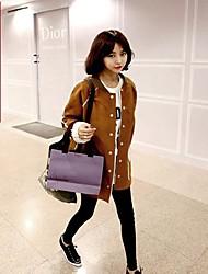 moda clássico casaco de camurça cordeiro de yalun®women