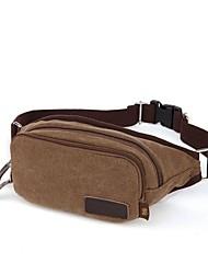WOWANG Men 's Fashion High Quality Waterproof Canvas Outdoor Hiking Waistpack Bag