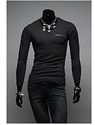 dos homens wsgyj v pescoço t-shirt slim-encaixe lazer
