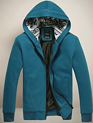 décontracté col montant solide couleur Jacket palaide