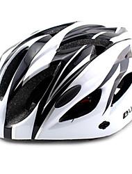 ungrol 18 respiraderos eps + pc negro + blanco integralmente moldeado del casco en bicicleta súper ligero (56-64cm)