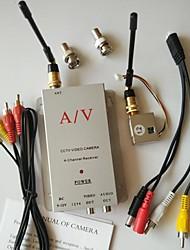 FPV 1,2 g 100mW 4 canaux sans fil av audio vidéo récepteur tranmsitter