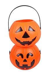Smile Pumpkin Hand-held Bucket(Random Color)
