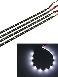 Carking™ 5050-12SMD-30CM Waterproof Car Decorative Lamp Strip-Black (4pcs)