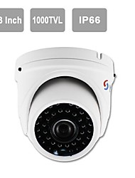 "YanSe® IR Dome Camera 1/3"" CMOS 36-LED 1000TVL Waterproof CCTV Vision Security Cameras 711CFW"