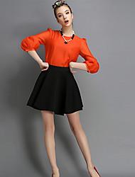 O  M  G  Women's European Korean Fashion solid color Bottoming  Shirt