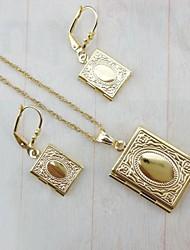 Plaqué or 18 carats allah livre musulman bijoux pendentif ensemble