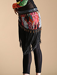 Dancewear Polyester With Tassels Belly Dance Performance Belt For Ladies-Clipping Random