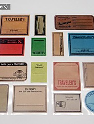 15 piecs fai da te di carta scrapbook adesivi d'epoca francobolli album viaggiano a forma di