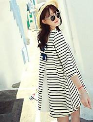 Women's Loose Stripes  Mini Dress
