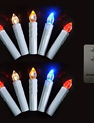 Set of 10 Color Changing Remote control LED Christmas tree candle