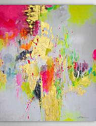 Pintada a mano Abstracto Vertical,Clásico Un Panel Lienzos Pintura al óleo pintada a colgar For Decoración hogareña