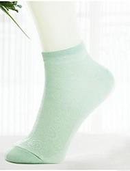 fibra de bambu meias pura tripulação das mulheres