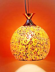 elegante colgante de cristal del mosaico