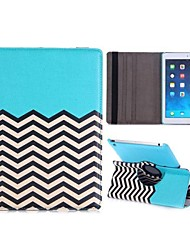 360 Rotating Wave Line Pattern Elastic Belt Flip Stand PC+PU Leather Case for iPad Air(Assorted Colors)