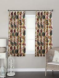 twopages® dois painéis artístico folhas cortina contemporânea