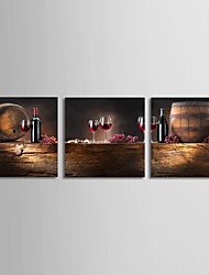 Stretched Canvas Print Canvas Set Still LifeThree Panels Horizontal Print Wall Decor For Home Decoration