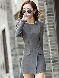 Women's Fashion Lapel Zipper Slim CUT Coat