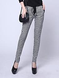 occasionnel pied de poule mince épaissir pantalons pour femme