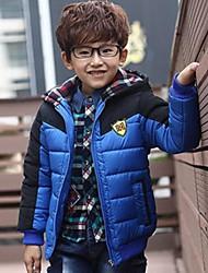 inverno desgaste m sinal de algodão roupas acolchoadas do menino com hoodies casaco quente
