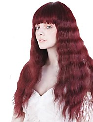 Stylish  Red Character Long Wavy Synthetic Wig For Women