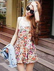 Women's Dress,Floral Above Knee Sleeveless Spring / Summer / Fall