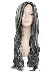 28 Inch Long Big Wave Side Bang Female Fashion High Temperature Fiber  Synthetic Wig
