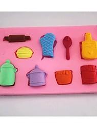 перчатки горшок ложка помадка торт шоколадный силиконовые формы торт украшение инструменты, l6.9cm * w6.9cm * h1cm