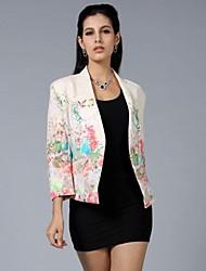 с длинным рукавом единственная кнопка печати тонкий пиджак женская
