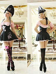 Halloween costume de pirate sexy noir et rose adulte femme