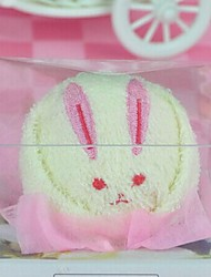 Birthday Gift Rabbit Shape fiber Creative Towel (Random Color)
