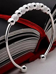 De Weimei vrouwen elegante geluk kralen zilveren armband