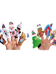 10PCS Christmas Stroy The Nursery Rhyme Finger Puppets Kids Talk Prop
