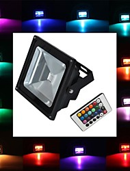 20W LED Floodlight 1 High Power LED 1900 lm RGB Remote-Controlled AC 85-265 V