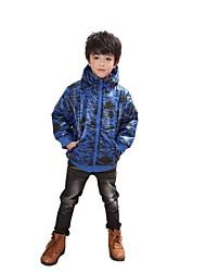 roupas acolchoadas de algodão outono e inverno casaco do rapaz