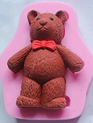 Bear Fondant Cake Chocolate Silicone Mold Cake Decoration Tools,L8.3cm*W6.6cm*H1.7cm