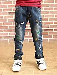 Boy's Embroidered Pony Jeans