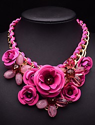 Eternity Women's Crystal Gem Flower Pattern Necklace