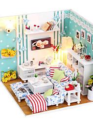 niedlich diy handgemachte Holzmöbel Puppenhaus Miniatur Traum Wohnzimmer Puzzle Spielzeug