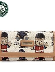 DAKA BEAR® Long Wallet Clutch Bags Clutch Purse Designer Purse