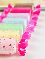 aparelhos de banho, toalha lindo material de criação de poliéster forma de doces, feriado ou presente de aniversário ((cor aleatória)