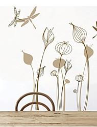 Wandaufkleber Wandtattoo, Blume Libelle home decor PVC-Vinyl Kunstwandaufkleber