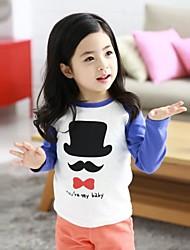 Kindermode Joker Hut Bart Langarm Rundkragen T-Shirt