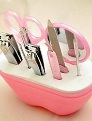 9pcs maçã forma voga prego cuidado manicure pessoal&conjunto pedicure (cor aleatória)