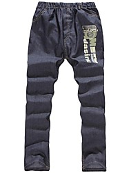Children's Fashion All Match Letter Printing Jeans