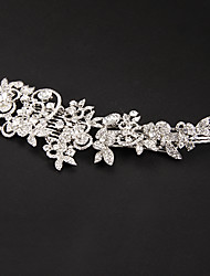 Women's Platinum Headpiece-Wedding / Special Occasion Flowers Clear