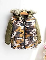 sudadera con capucha peludo invierno engrosamiento de algodón acolchado camuflaje exterior del niño