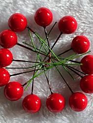 Fruta roja navidad 20pcs adornos de árbol de plásticos